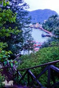 The wooden walkways and stairways of Caleta Tortel