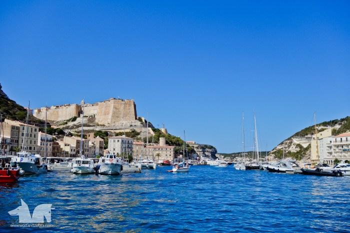 The fortress of Bonifacio standing guard.