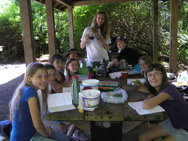 McCollum Park Day Campers Learn Wilderness Survival, Wildlife Tracking, Wild Edibles and Herbal Medicine