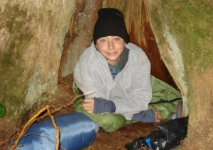 Sometimes campers sleep in hollow trees...
