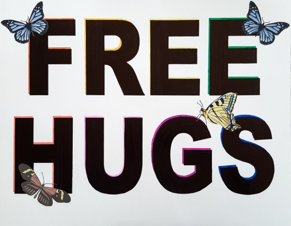 Mike's FREE HUGS Poster