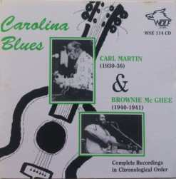 WSE114 Carolina Blues Carl Martin   Brownie McGhee