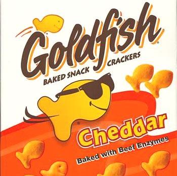 Goldfish with beef gelatin