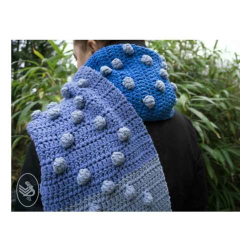 durable cosy dots sjaal haakpatroon