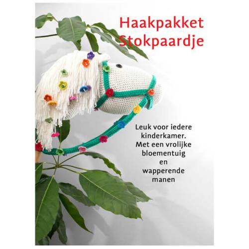 durable happy colours stokpaardje haakpakket