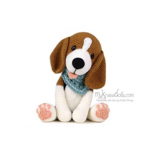 hondjes van sokkenwol beagle bram haakpakket