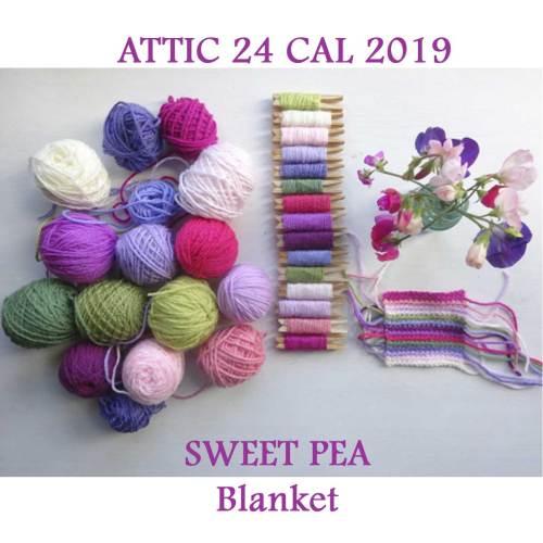 attic 24 cal sweet pea blanket pakket