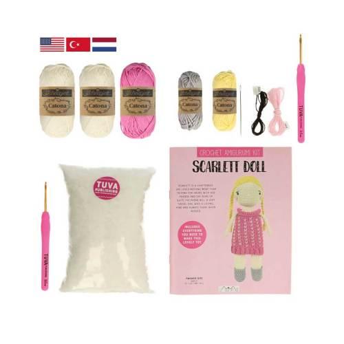 tuva amigurumi haakpakketten scarlett doll