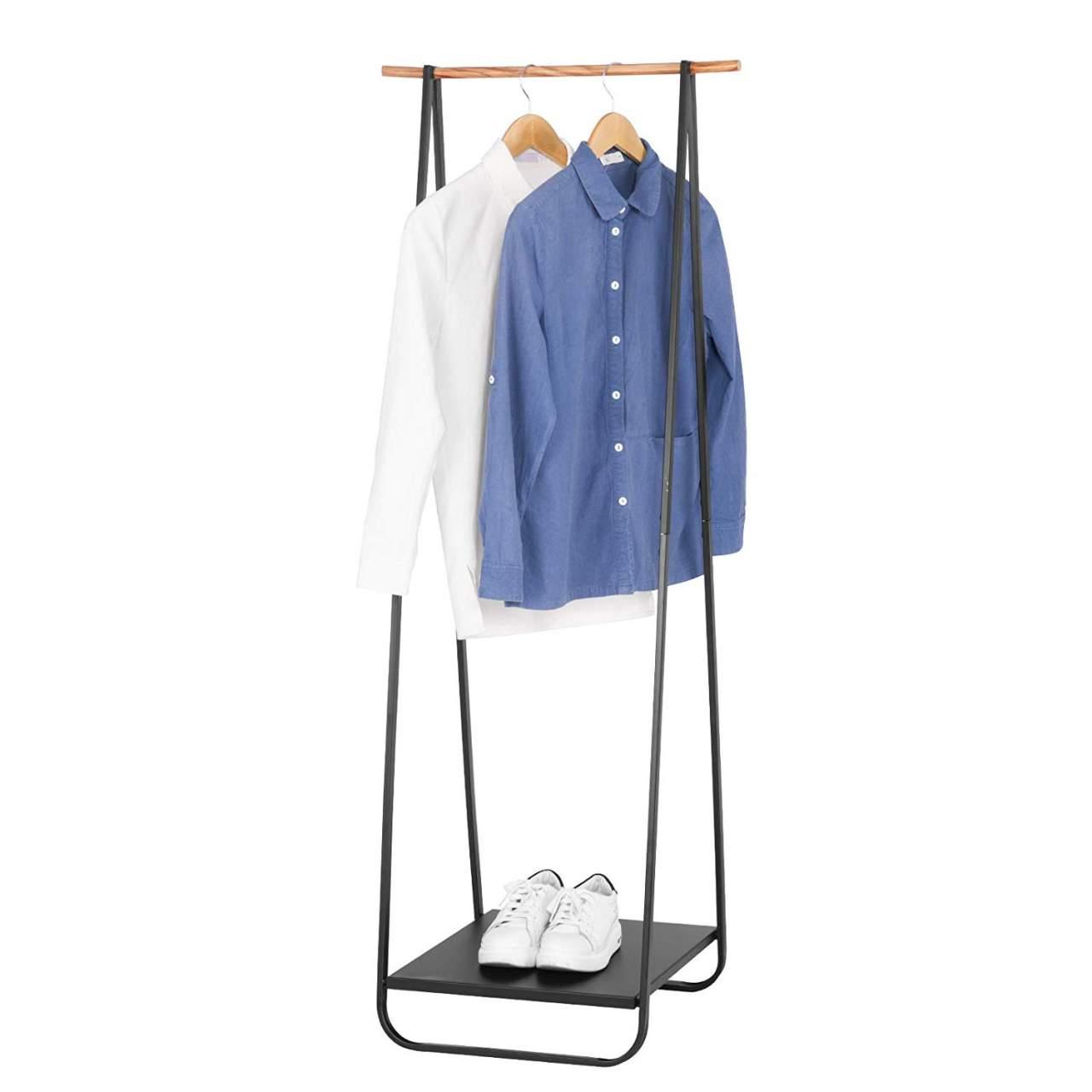 coat rack stand with shoe rack shelf metal