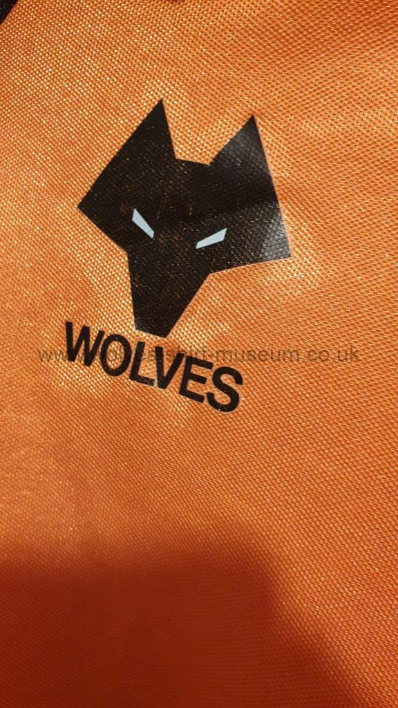 Wolves 1979-82 home shirt by Umbro - close up of badge