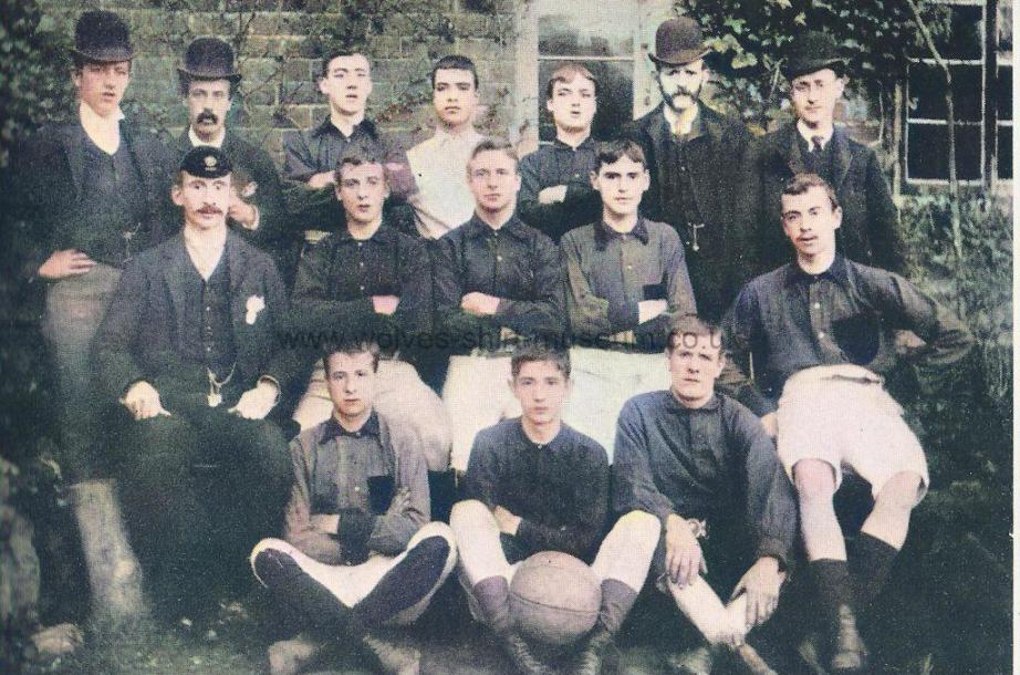 1890-91 or 1891-92 Wolves team - enhanced and colorised