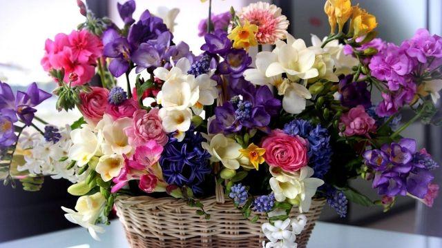 Корзина цветов – роскошный подарок в честь особого случая