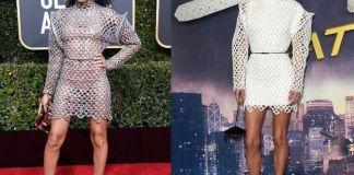 Дженнифер Коннелли и Индия Мур в платье Louis Vuitton