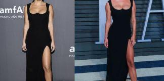 Кортни Кардашян и Нина Агдал в платье Versace