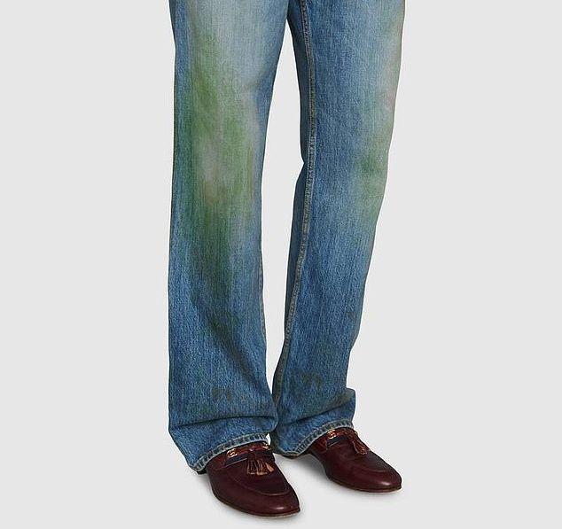 Платье для мужчин, испачканные травой джинсы и комбинезон в краске