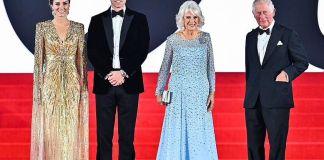 Принц Уильям и Кейт Миддлтон на премьере нового фильма о Джеймсе Бонде