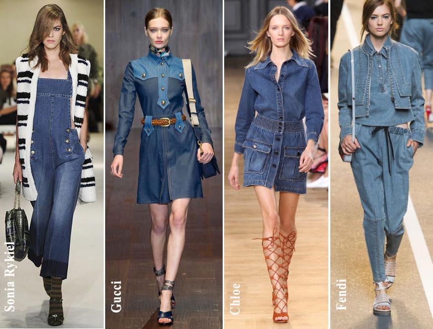 μόδα άνοιξη καλοκαίρι 2015 denim fashion womanoclock