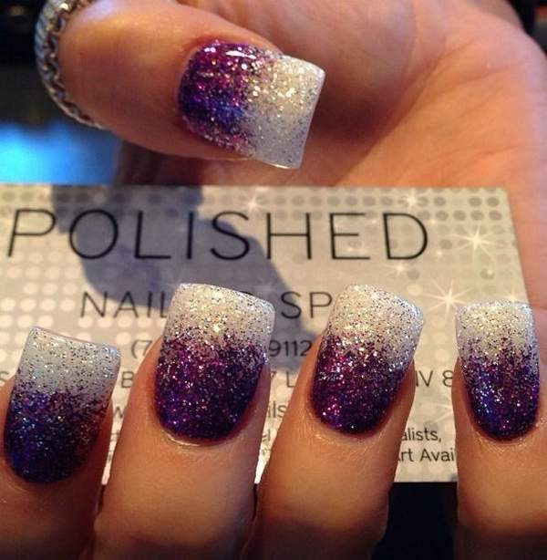 Two-Toned-Glitter-Nails