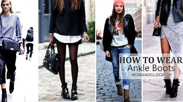 ankle boots womanoclock