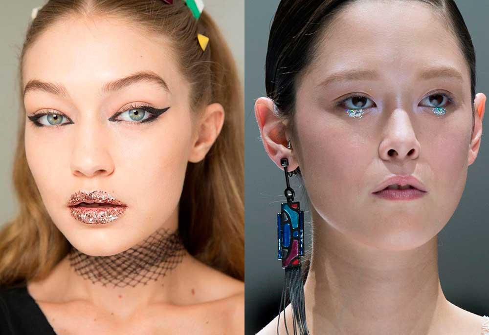 τάσεις μακιγιάζ 2017 άνοιξη καλοκαίρι - glitter