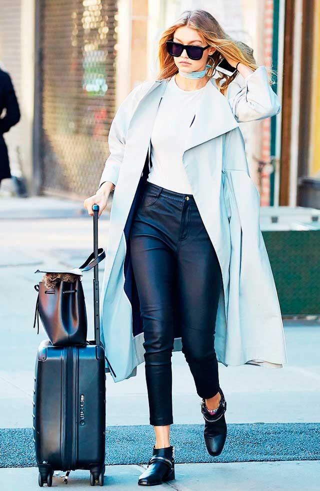 τι να φορέσω στο ταξίδι - Gigi Hadid Style