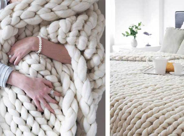 Πως να Πλέξετε μία μεγάλη Μάλλινη Κουβέρτα χωρίς Βελόνες