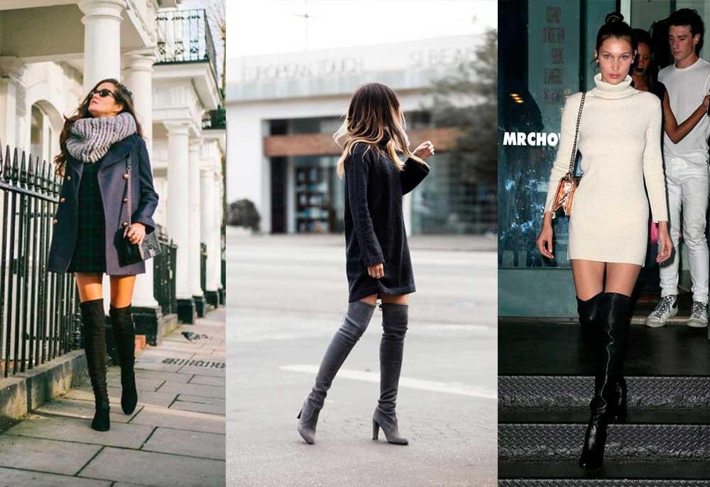 Street Styles: Μίνι Φορέματα & Μπότες πάνω από το Γόνατο
