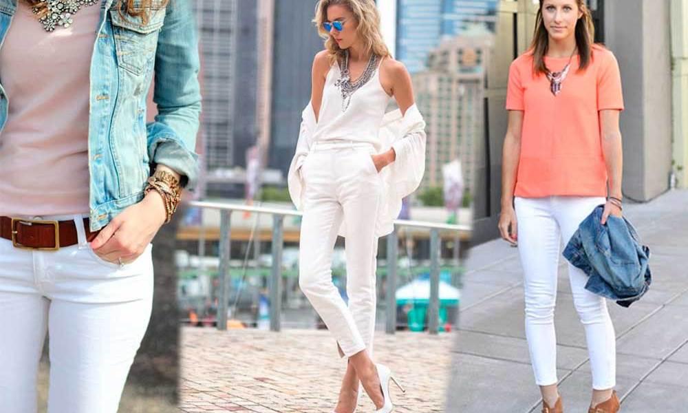 Πως να Φορέσω Λευκό Παντελόνι όλες τις Εποχές  c019d5a148e