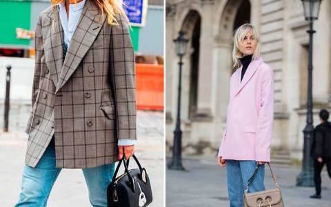 How to wear oversized blazer