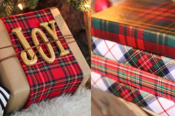 Χριστουγεννιάτικη διακόσμηση με καρό