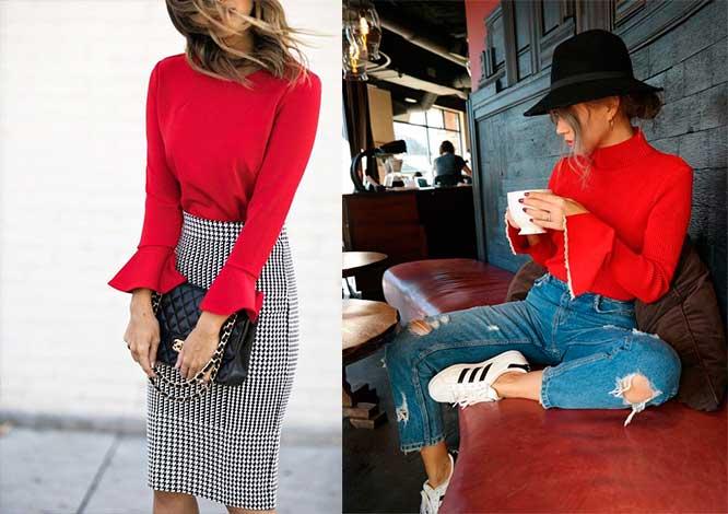 Πως να φορέσεις κόκκινη μπλούζα
