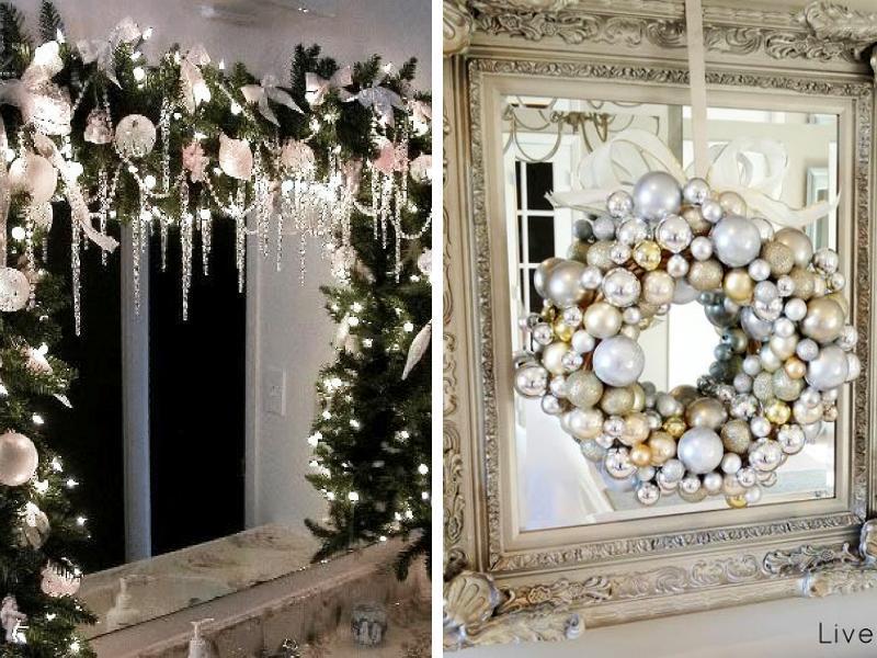 Χριστουγεννιάτικη Διακόσμηση  Καθρέφτη