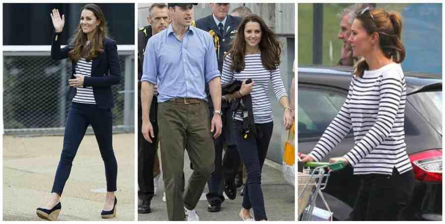 Princess Kate stripe tops