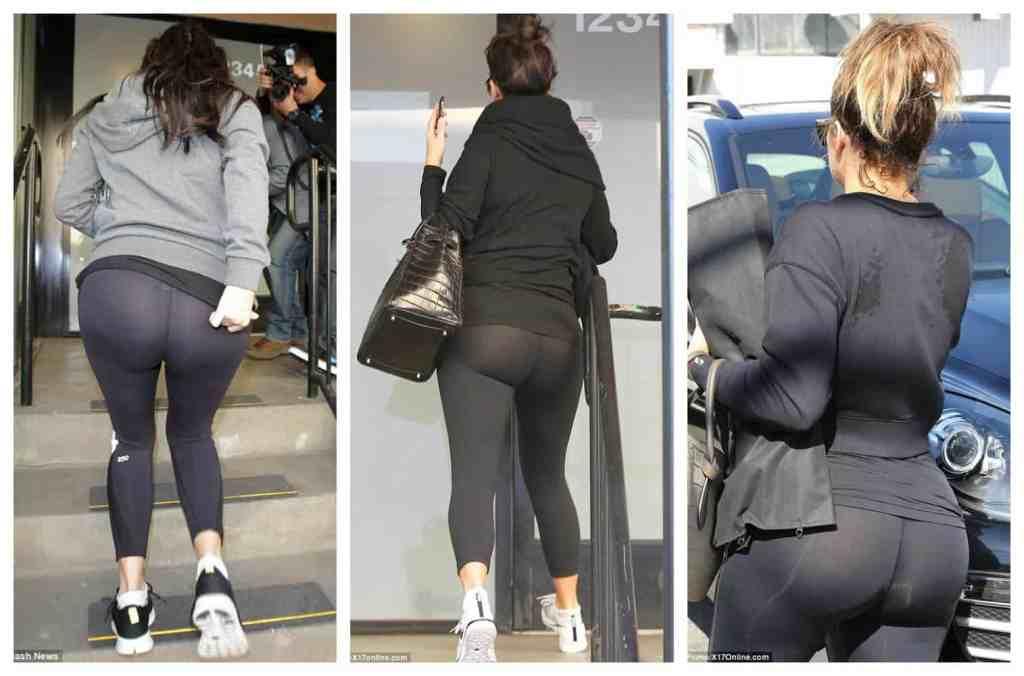 Khloe Kardashian see through pants