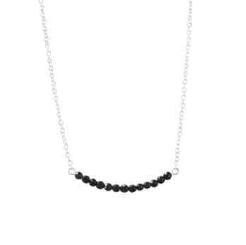 curve beads bar necklace 4cm