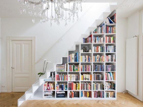 interior design stairs bookcase