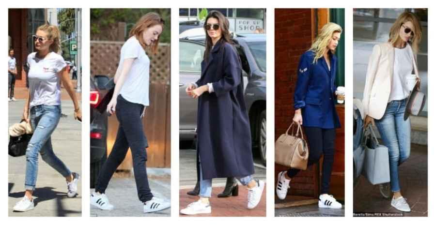 celebrities wearing adidas shoes