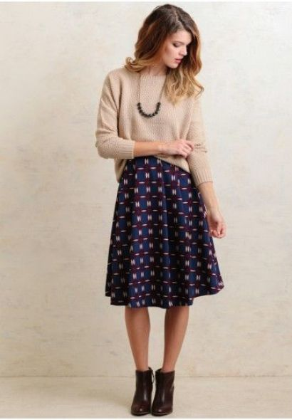 midi skirt ankle boots