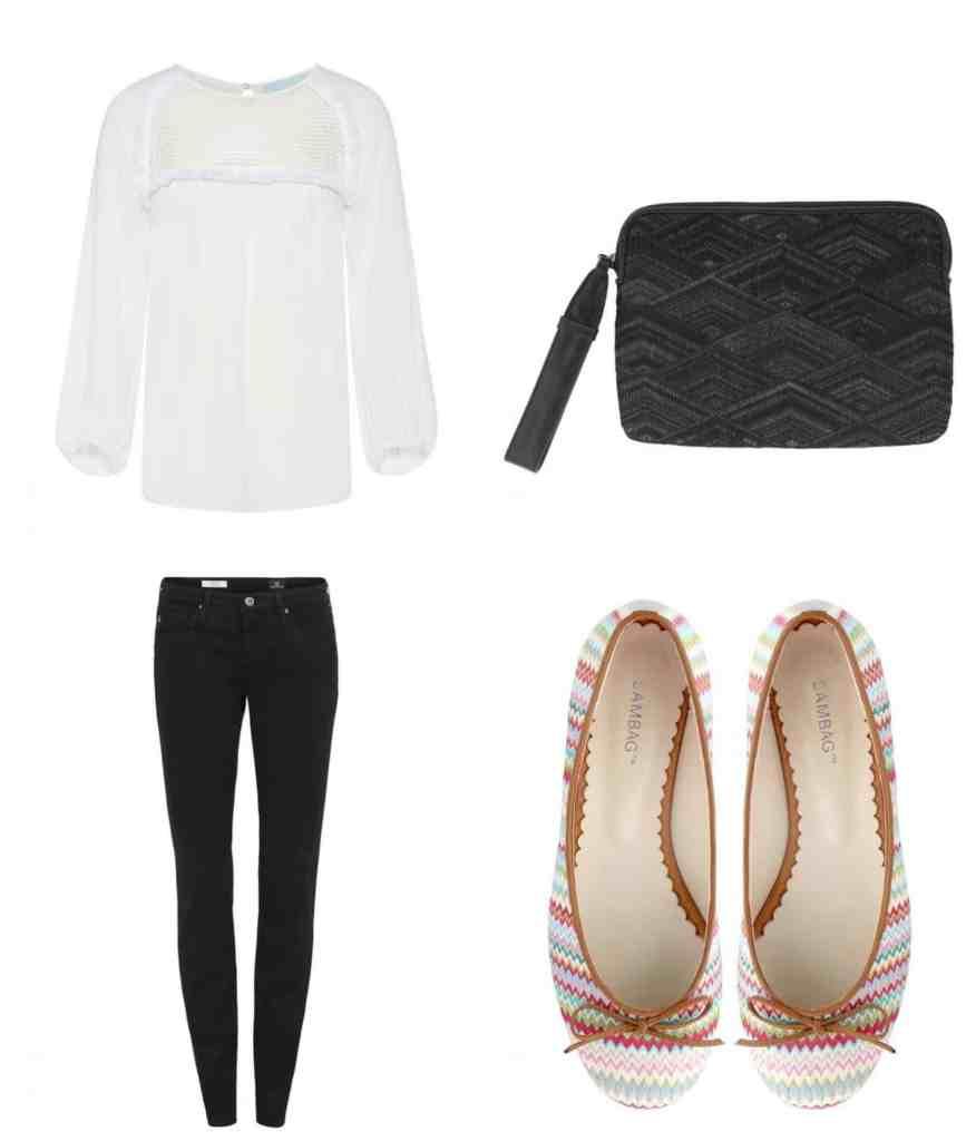 sambag-jeans-blouse-boho-ballet-flats-clutch-outfit