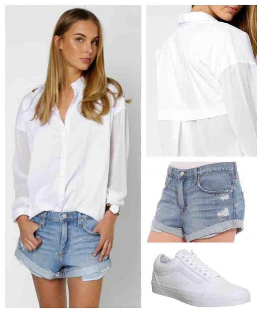 white-shirt-denim-shorts-vans-glue-store