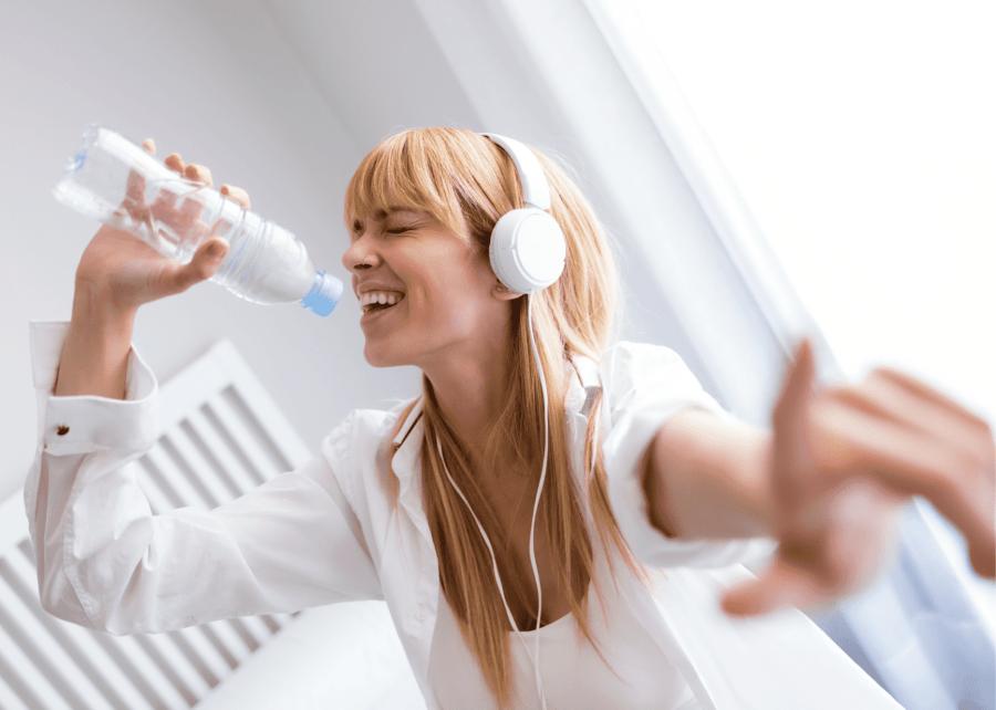 woman singing uplifting songs