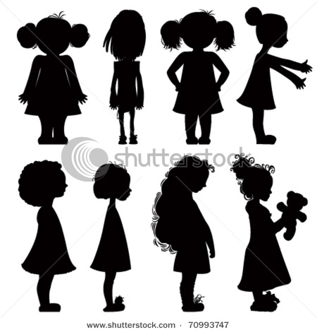 Little Girl Walking Silhouette