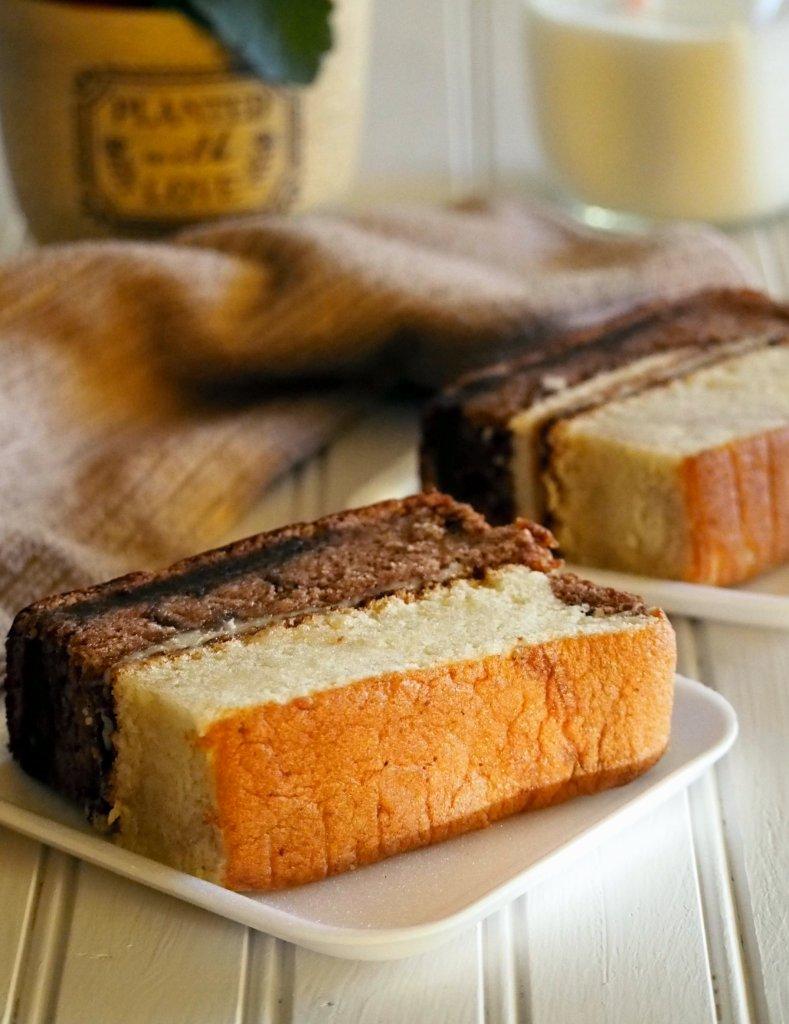 Choco Vanilla Chiffon Cake