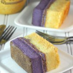Ube Vanilla Chiffon  Cake Slices