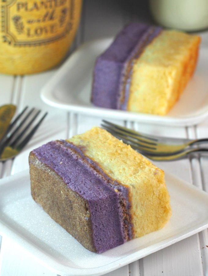 ube vanilla cake