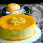 Mango Chiffon Cake with Swiss Meringue Buttercream