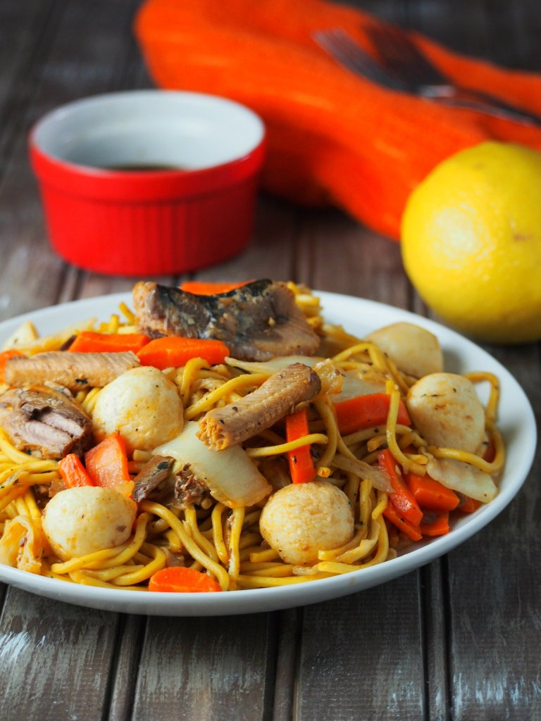 This Filipino pancit canton with sardines is easy, meat-free and totally delicious.