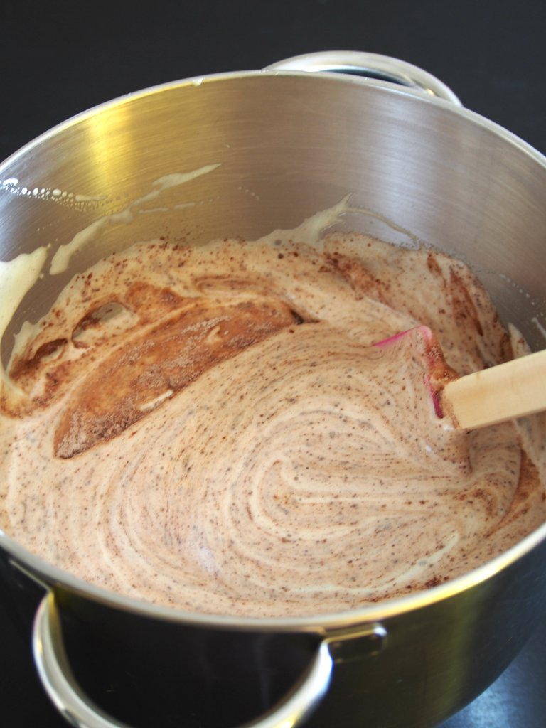 folding batter for chocolate mamon