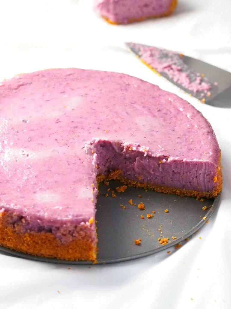 Creamy and Luscious Ube Cheesecake