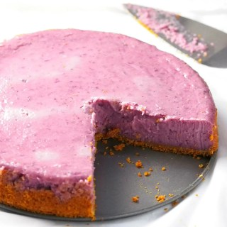 The flavor of the creamy ube blended together with the richness of cream cheese makes this ube cheesecake a very decadent dessert.